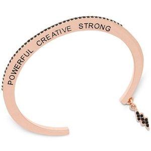 Affirmation Rose Gold Bracelet Cuff